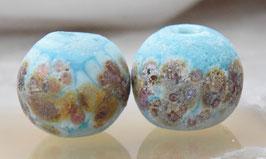 Rustic Turquoise Raku Spheres