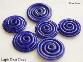 10 Lapis Blue Slim Discs