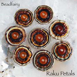 Raku Flower Petals