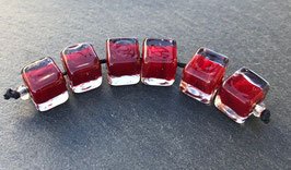 1 Pair or 6 Cherry Red Cubes Matte or Glossy