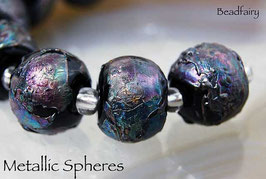7 Black Metallic Spheres