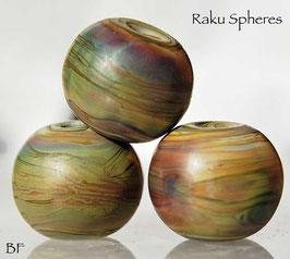 Raku Spheres Lampwork Beads Earthy handmade glass beads , organic beads
