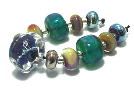 Green Blue Set -9 Beads (#415)