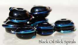 5 Black Oil Slick Spirals