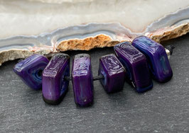 6 Dark Purple Rose Diamonds