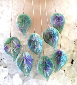 8 Celadon Green - Pink Lavender Leaves Headpins