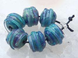 1 Pair or 3 Pair Seafoam Spheres