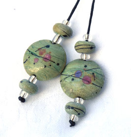 Rustic Seafoam Lentils &4 Accent Beads