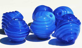 8 Mystic Blue Bicones, Shampoo Glass