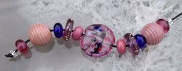 Pink Set- 11 Beads Purple Pink Blue Colors