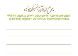 """Musikwunschkarte """"Klassik"""""""