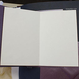 Falt-Einlegeblatt 532i (14,6x20,7 cm) crème für Kirchenheft usw.