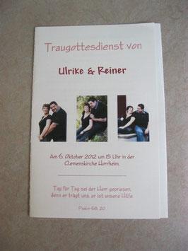 "Programm-Faltblatt ""Unser Weg"""