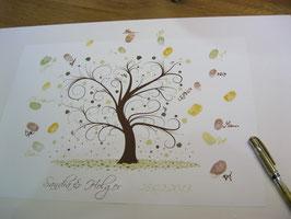 """Hochzeitsbaum /Wedding Tree """"Schnörkel"""""""