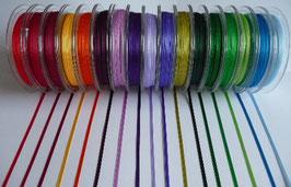 Seidenbänder Satinband schmal 3mm, 50m Rolle