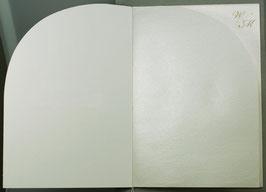 Falt-Einlegeblatt 723491i (14,7x20,8cm) perlmutt für Kirchenheft