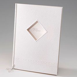 Blankokarte DIN A5 Kirchenheft Zeremonienheft Ornament aus Kartenserie MiaLou (Bel724461D)
