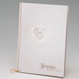 Universalkarte Kirchenheft Zeremonienheft Herzstanzung (Bel724408D)