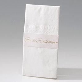 8er-Bogen Taschentuch-Halterung-Banderole perlmutt gold (à 0,20 €) (Bel723890D)