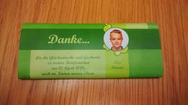Banderole für Schokoladentafel