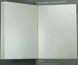Falt-Einlegeblatt 530i (14,6x20,7 cm) perlmutt für Kirchenheft