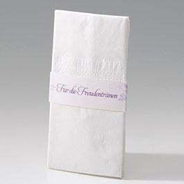 8er-Bogen Taschentuch-Halterung-Banderolen violette Ranken (à 0,20 €) (Bel723814)