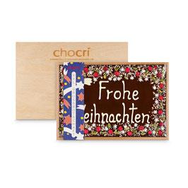 "XXL-Grußbotschaft ""Frohe Weihnachten"" in edler Holzbox"