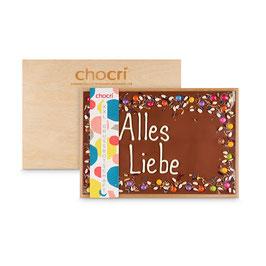 """XXL-Grußbotschaft """"Alles Liebe"""" in edler Holzbox"""