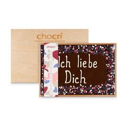 "XXL-Grußbotschaft ""Ich liebe Dich"" in edler Holzbox"