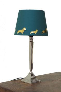 Lampenschirm Chintz dunkelgrün