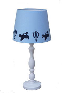 Lampenschirm Chintz hellblau