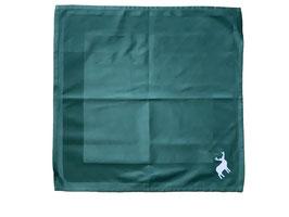 Damast-Serviette dunkelgrün mit Atlasstreifen
