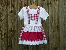 Beerefarbener Babybody im Trachtenstil, Dirndl fürs Kind, Kleid fürs Oktoberfest, bayerisches Kleid, hübsches Babykleid, bayerische Hochzeit, schickes Taufdirndl, bequemes Festtagskleid, Dirndl Rosi