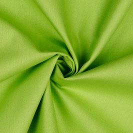 Baumwollstoff in lime, grüner Popeline 0,25m