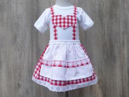 Rotes Taufkleid, Festtagskleid für Weihnachten, bequemes Babykleid,Taufe in Bayern, Babybody im Trachtenstil, Dirndl fürs Kind, Babyoutfit Bayern, Brautmädchen, Taufdirndl, Dirndl Liesel