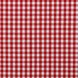 Baumwollstoff Vichy Karo rot/weiß 10mm