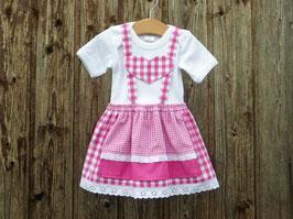 Pink-weißes Babydirndl, kariertes Taufkleid, Taufe in Bayern, Babysuit im Trachtenstil, Dirndl fürs Kind, Kleid fürs Oktoberfest, Tracht, Dirndl Christl