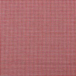 Baumwollstoff Vichy Karo rot/weiß 2mm