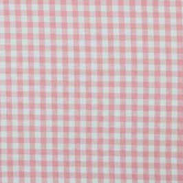 Baumwollstoff Vichy Karo rosa/weiß 10mm