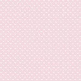 Baumwollstoff Schleifchen rosa/weiß
