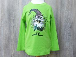 Bedrucktes, grünes  Langarmshirt Wichtel