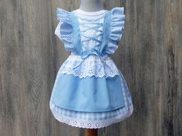 Hochzeit mit Baby, Kleid für Festlichkeiten, Brautmädchenkleid, hellblaues Taufkleid, Babybody mit Kleidchen, Dirndl mit Rüschen