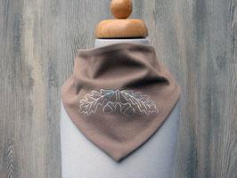 Bedrucktes Halstuch mit schillernden Eicheln, trachtiges Dreieckstuch