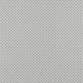 Baumwollstoff Punkte weiß/grau