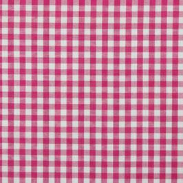 Baumwollstoff Vichy Karo pink/weiß 10mm