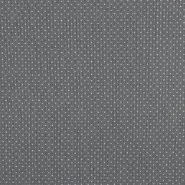 Baumwollstoff Dots grau/weiß