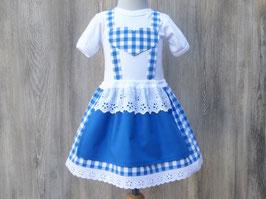 Blaukariertes Babydirndl, Taufe in Bayern, Babybody im Trachtenstil, Dirndl fürs Kind, Kleid fürs Oktoberfest, bayerisches Kleid, bayerische Hochzeit, Dirndl Petra
