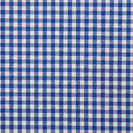 Baumwollstoff Vichy Karo blau/weiß 10mm