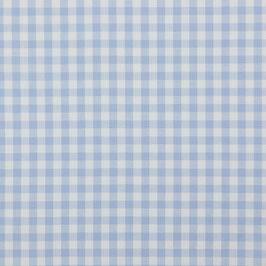Baumwollstoff Vichy Karo hellblau/weiß 10mm