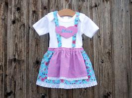 Babys erstes Dirndl, Babybody im Trachtenstil, individuelles Kleid, Festtagskleid für Weihnachten, Babytracht, Brautmädchen, Taufdirndl, Weihnachtsgeschenk fürs Baby, Dirndl Josefa